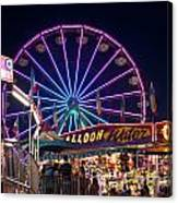 Ferris Wheel Rides And Games Canvas Print