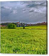 Fields Of Rapeseed In Lower Silesia Canvas Print
