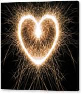 Fiery Heart Canvas Print