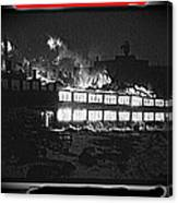 Film Homage Chris Marker La Jetee 1962 Winter Fire Collage Aberdeen South Dakota 1965-2013 Canvas Print
