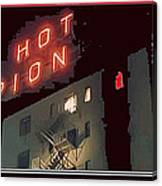 Film Homage Hot Pion 2010 Screen Capture Pioneer Hotel Tucson Arizona Canvas Print