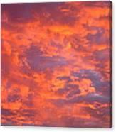Film Noir Homage Leave Her To Heaven Number 1 Fiery Clouds Casa Grande Arizona 2005 Canvas Print