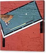 Film Noir Phil Carlson The Phenix City Story 1955 Bar Wall Pool Table Eloy Arizona 2005 Canvas Print