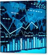 Financial charts Canvas Print