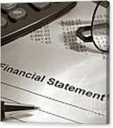 Financial Statement On My Desk Canvas Print