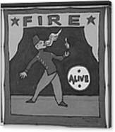Fire Eater In Black And White Canvas Print