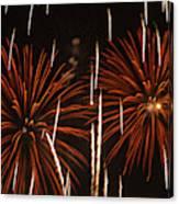 Fireworks At The Albuquerque Hot Air Canvas Print