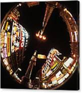 Fish Eye Photo Of Picadilly Circus Canvas Print