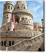 Fisherman Bastion In Budapest Canvas Print