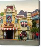 Five And Dime Disneyland Toontown Signage Canvas Print