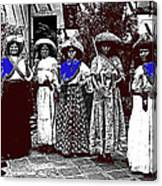 Five Female Revolutionary Soldiers Unknown Mexico Location Or Date-2014 Canvas Print