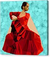 Flamenco Dancer In Spain Canvas Print