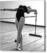 Flexibility Bw Canvas Print