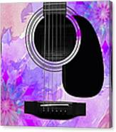 Floral Abstract Guitar 17 Canvas Print