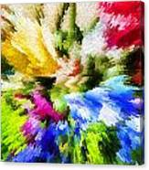 Floral Art X Canvas Print