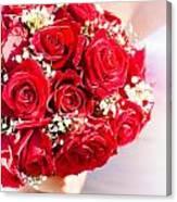 Floral Rose Boquet Held By Bride Canvas Print