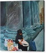 Flower Lady Of The Pantheon Canvas Print