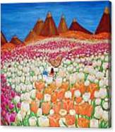 Flowers And Fields Alive With Thy Joy Canvas Print