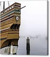 Foggy Harbor Canvas Print