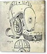 1927 Football Helmet Patent Canvas Print