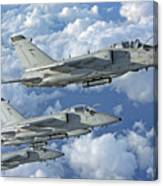 Formation Of Italian Air Force Amx-acol Canvas Print