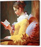 Fragonard's Young Girl Reading Canvas Print