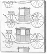 France Carriages, C1740 Canvas Print