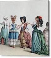 France Fashion, C1730 Canvas Print