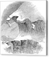 France Mont Blanc, 1851 Canvas Print