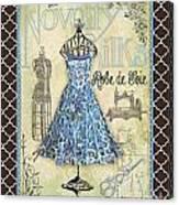 French Dress Shop-b1 Canvas Print