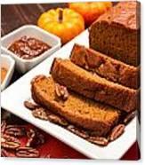 Fresh Pumpkin Bread Canvas Print