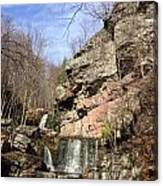 Fresh Water Streams Around Poconos Pa America Usa  Canvas Print