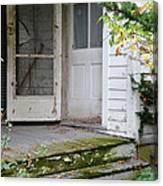 Front Door Of Abandoned House Canvas Print