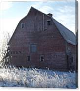 Frosty Barn Canvas Print