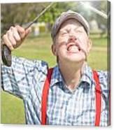 Funny Golf Canvas Print