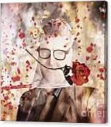 Funny Valentine Nerd Caught In Net Of Romance  Canvas Print