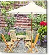 Garden Seating Area Canvas Print
