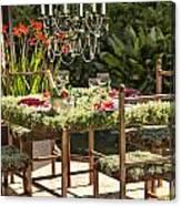 Garden Table Setting Canvas Print