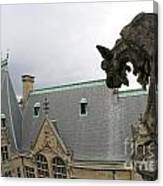 Gargoyles On Roof Of Biltmore Estate Canvas Print