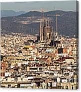 Gaudi La Sagrada Familia Barcelona  Canvas Print
