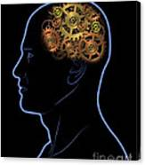 Gears In The Head Canvas Print