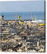 Genova. The Old Town  Canvas Print