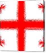 Georgian Flag Canvas Print