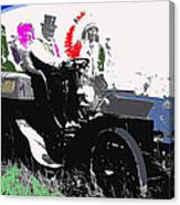 Geronimo At The Wheel 1904 Locomobile Model C Touring Car On The 101 Ranch In Oklahoma 1905 Canvas Print
