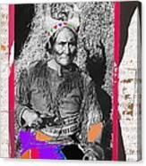 Geronimo With Pistol Ft. Sill Oklahoma Collage Circa 1910-2012 Canvas Print