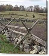 Gettysburg Fence Row 3 Canvas Print