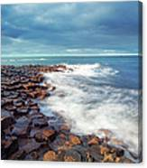 Giants Causeway On A Cloudy Day Canvas Print