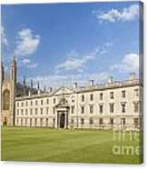 Gibbs Building And Kings College Chapel In Cambridge Canvas Print
