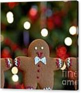Gingerbread Men In A Line Canvas Print