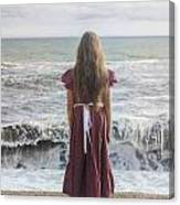 Girl On Beach Canvas Print